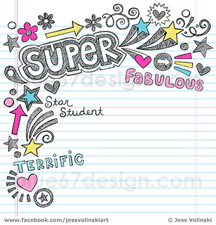 Sketchy School Notebook Doodles Vector Illustration by Jes ...