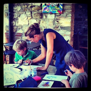 Children painting with Angela | by Salvadonica, Chianti, Tuscany