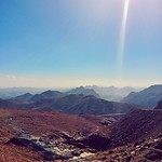 Jabel Al Lawz (Al Lawz mountain) between Haql and Tabuk, Saudi Arabia. There was a lot of snow here a couple weeks ago.  جبل اللوز بين حقل وتبوك #tabuk #saudi #arabia #mountain #travel #iphone #vscocam