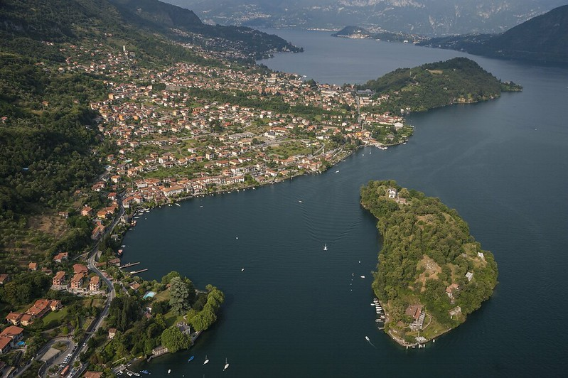Aerial View of Comacina Island
