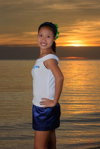 ocean sunset red sea sexy girl beautiful yellow lady golden filipina phl philippinen negrosoccidental sipalay
