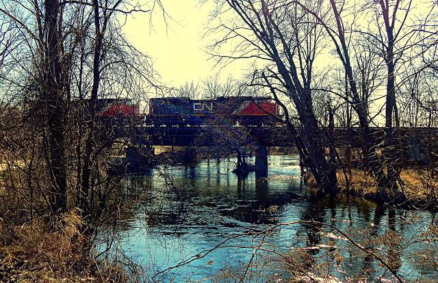 CN led train near Ligonier Indiana