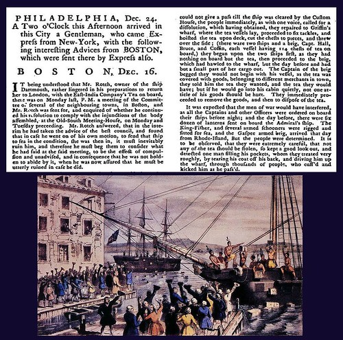 16th December 1775 - The Boston Tea Party | by Bradford Timeline
