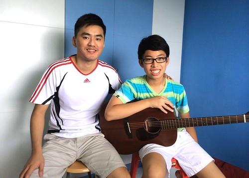 Beginner guitar lessons Singapore Joshua