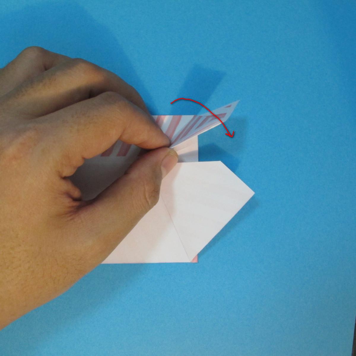 วิธีพับกล่องกระดาษรูปหัวใจส่วนฐานกล่อง 026