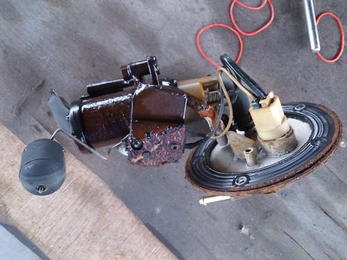 悍將F1 噴射版 汽油幫浦(泵浦) 老化 但零件停產 的維修紀錄5611