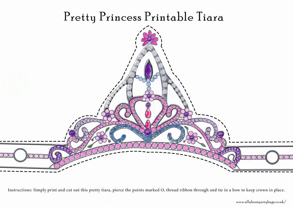 image relating to Printable Tiara named Printable princess tiara Receive the entire-sized printable at w