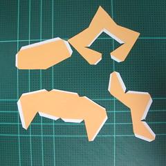 วิธีทำโมเดลกระดาษตุ้กตาสัตว์เลี้ยง หยดทองจากเกมส์ คุกกี้รัน (LINE Cookie Run Gold Drop Papercraft Model - クッキーラン  「黄金ドロップ」 ペーパークラフト) 003