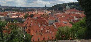 View of Prague from Palace Gardens, Prague Castle, Prague