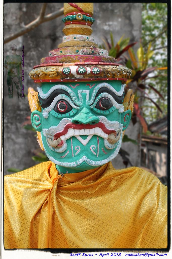 Guarding Wat Phra That Mae Yen