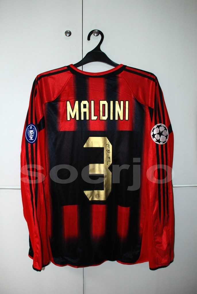 on sale 69490 88ffc Ac Milan Climacool Home Kit Match Issue UCL Version 2004-2 ...