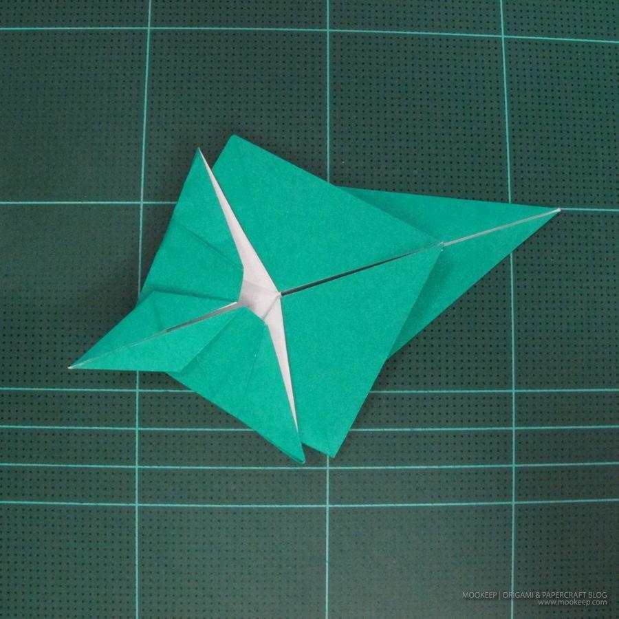 วิธีพับกระดาษเป็นรูปหมู (Origami Pig) 014