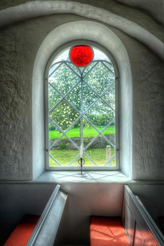 summer church window view sweden seat pew hdr kyrka photomatix 2013 ivön
