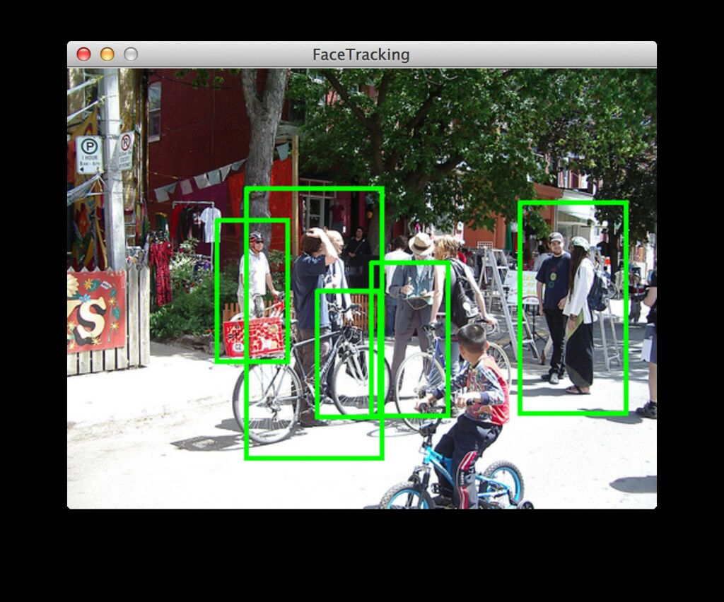 pedestrian detection with opencv in Processing | using Casca… | Flickr