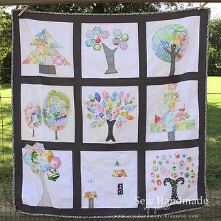 Vintage Sheet Tree Quilt