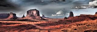 Sunset Panorama Monument Valley, Navajo Nation   by neeravbhatt