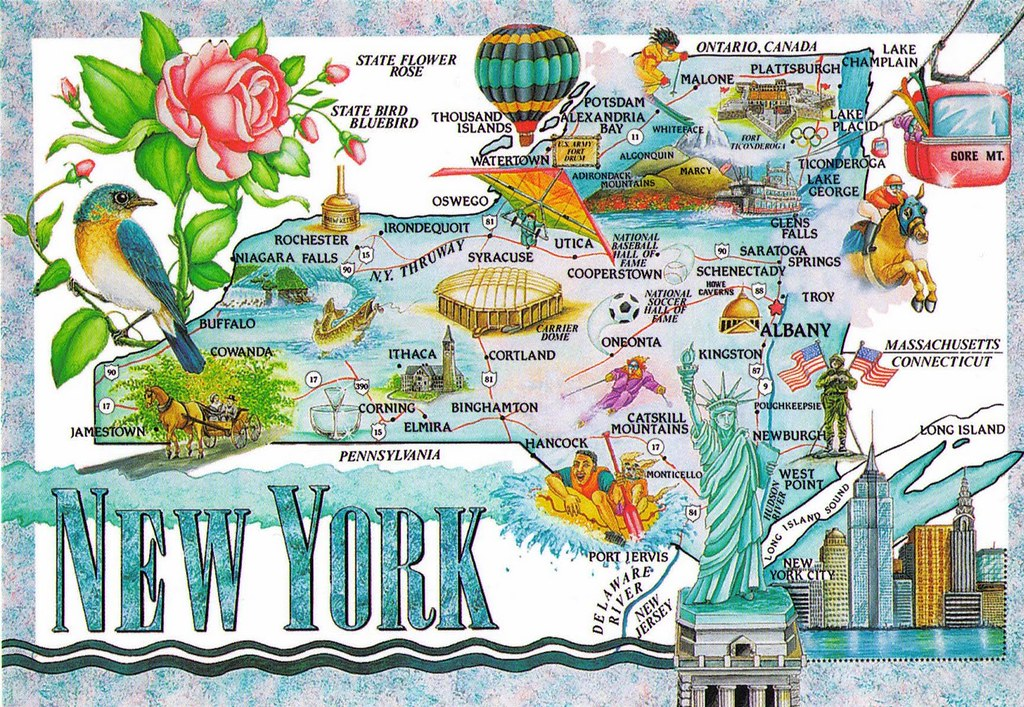 Tourist Map Of New York.New York State Tourism Map Rasheedfr Flickr