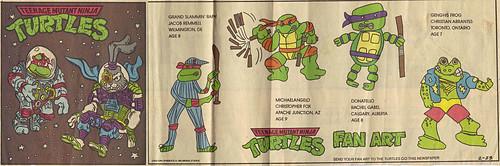 TEENAGE MUTANT NINJA TURTLES { newspaper strip } ..Raph, the Space Cadet + SPACE USAGI ; ..art by Lawson  :: 02231992 by tOkKa