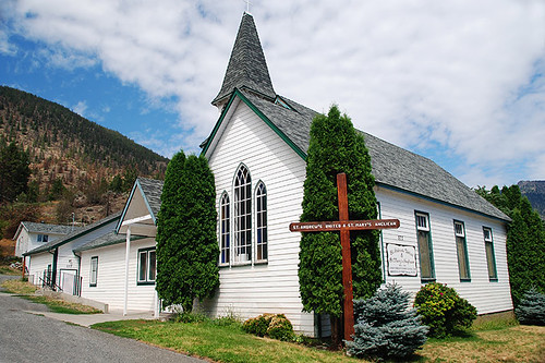 St. Andrew's United and St. Mary's Anglican Church, Lillooet, Cariboo, British Columbia