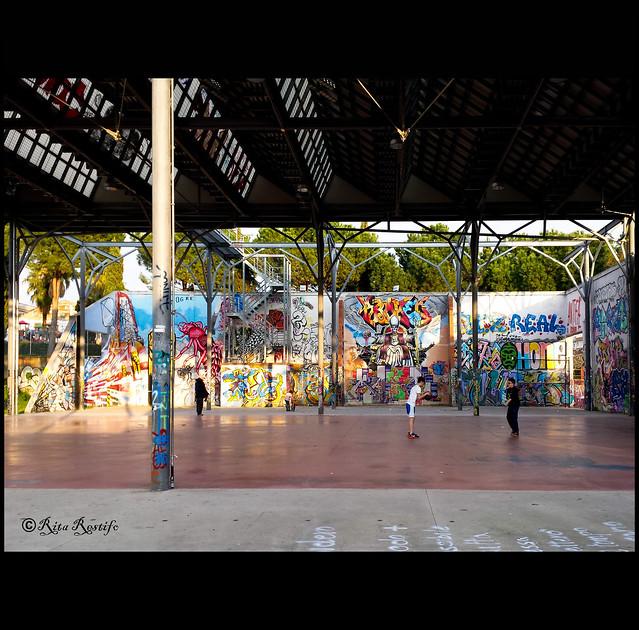 Roma. Prenestino. Ex-SNIA. Street art by Kiv, Hogre, Cancelletto, Broken Fingaz and...