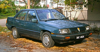 1990 Proton Saga 4-door saloon (modified)