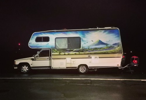 motorhome airbrush cabover rv toyotachassis stealthcamping