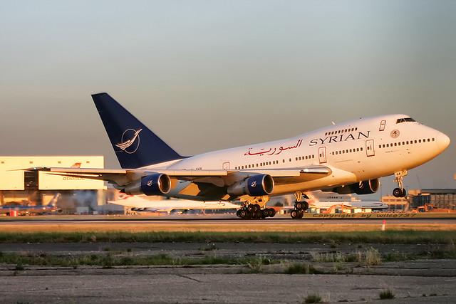 Syrian Boeing 747-SP at LHR (YK-AHA)