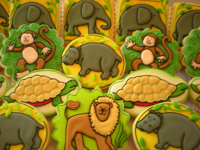 Debbie Mumm Themed Safari Cookies