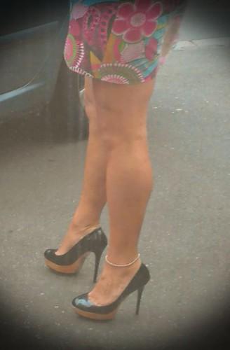 Robe chainette escarpins talons / Dress anklet high heels