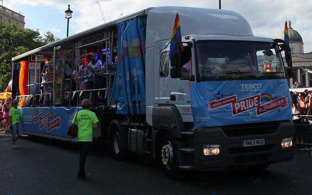 Tesco lorry