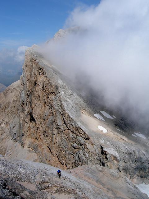 Marmolada west ridge, Dolomites via ferrata