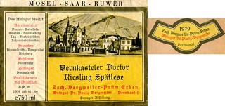 Bernkasteler Doctor 1979 (Mosel)