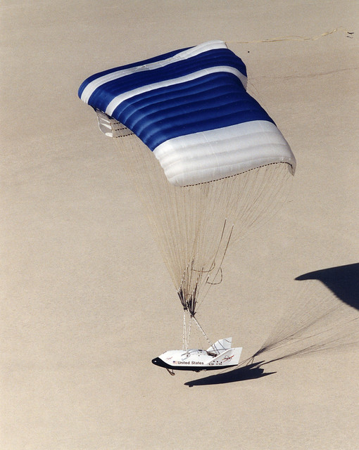X-38 Prototype Lands on Rogers Dry Lakebed