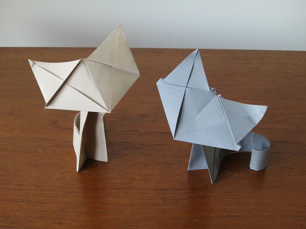 Awesome origami cat | How to make a paper cat | Origami cat easy ... | 768x1024