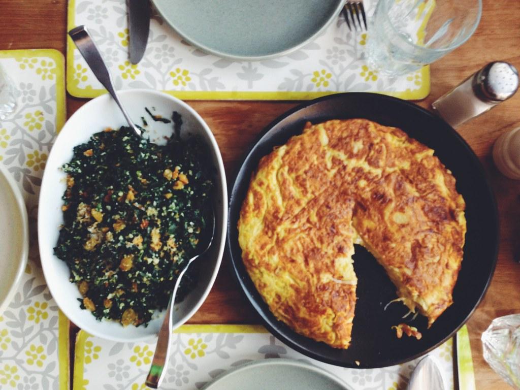Last Night S Blurry Dinner Kale Salad With Pecorino And Wa Flickr