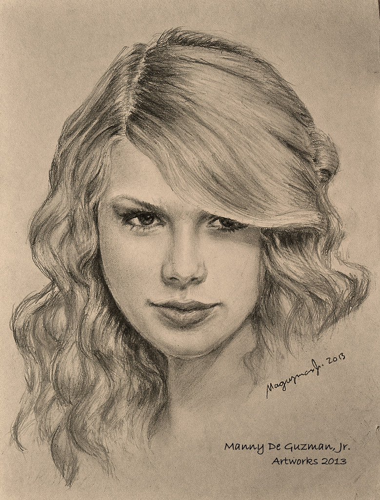 Taylor swift pencil drawing portrait drawing by manny d flickr
