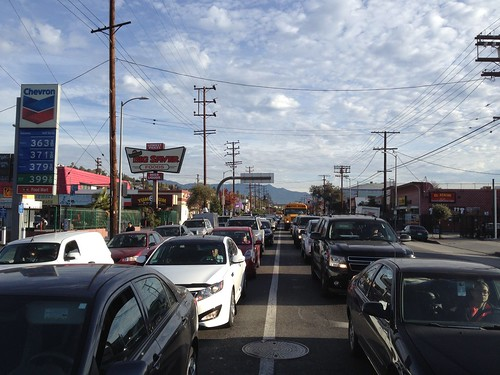 About 60 single occupant cars  jam 1/4 mile of the southbound side of North Figueroa  at Avenue 26 and N. Figueroa St. | by ubrayj02