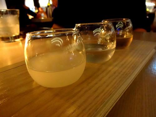 Miku (Coal Harbour Vancouver) - Sake Flight