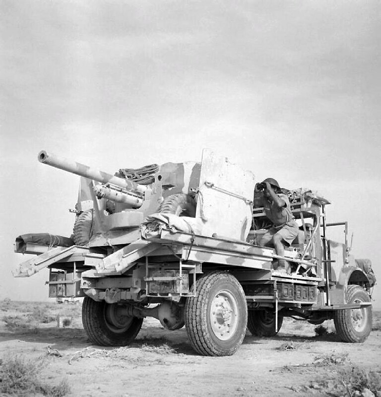 Truck mounted 6-pdr anti-tank