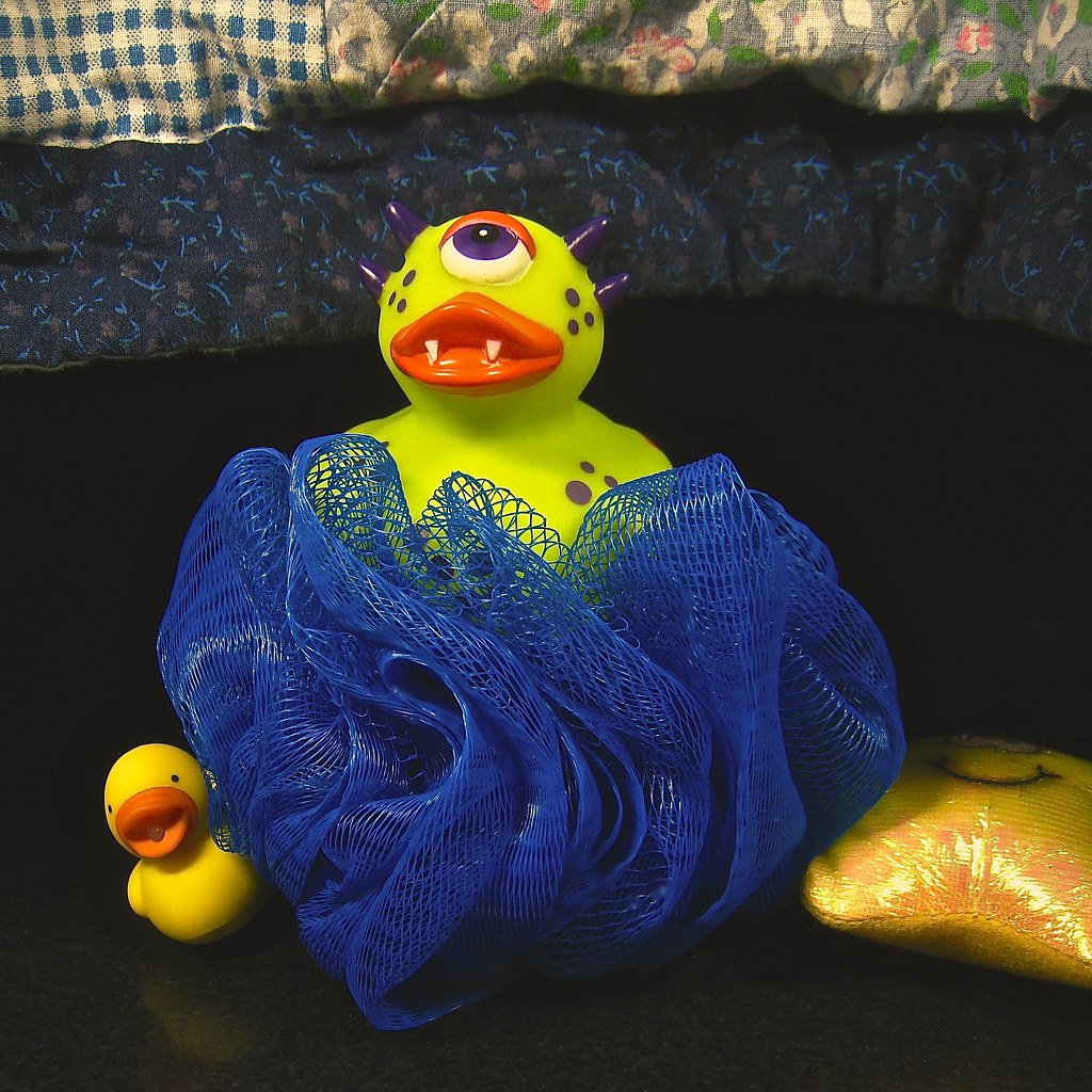 don't be silly, matty, there's no monster ducky under your bed