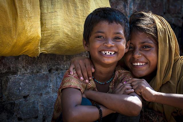 #14 Children Faces: Friends! Ballabgher Village   India