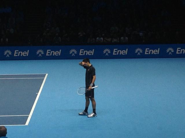 Novak Djokovic during the finals of the ATP World Tour Finals