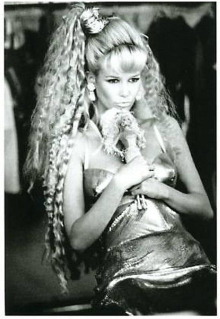 claudia schiffer with barbie doll