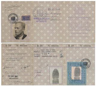 Persoonsbewijs - Gerardus Wilhelmus Lelivelt (1941-1944)