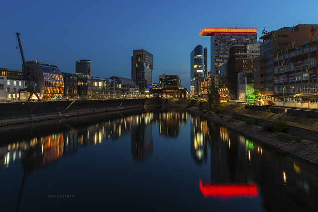 inner harbour at blue hour