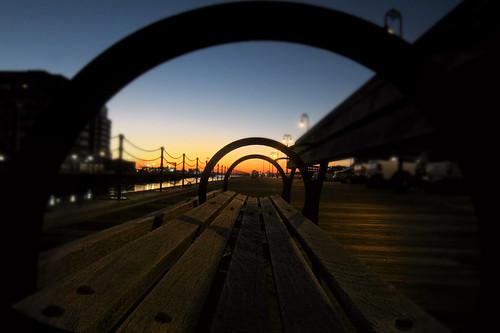 boston closeup sunrise bench charlestown bluehour charlestownnavyyard pier3 ipiccy