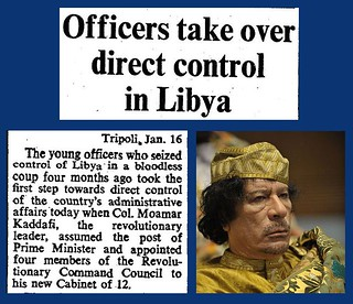 16th January 1970 - Officers take control of Libya - Colonel Gaddafi | by Bradford Timeline