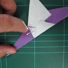 วิธีพับกระดาษเป็นรูปนกอินทรี (Origami Eagle) 023