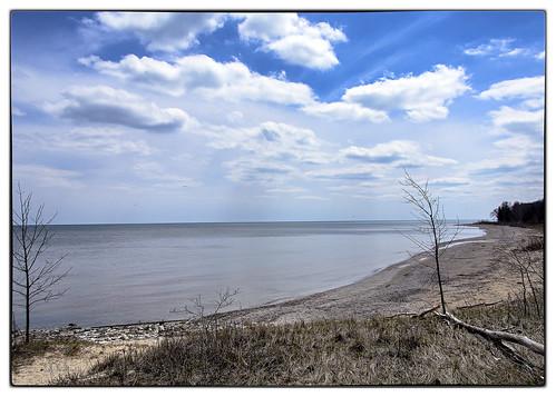park lake tree beach water clouds sand belgium state lakemichigan bent wi harrington harringtonbeachstatepark 18mm200mm