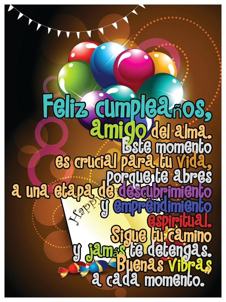 Frases De Amor Hermosa Postal De Feliz Cumpleaños Para Co